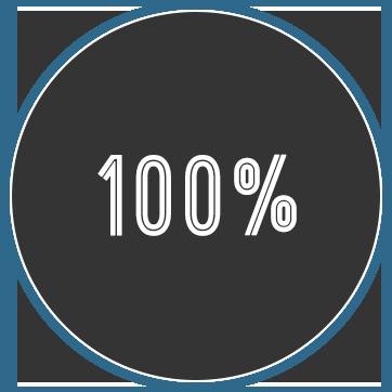 100% waschen