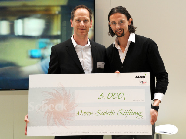 ALSO spendent 3000€an die Neven Subotic Stiftung