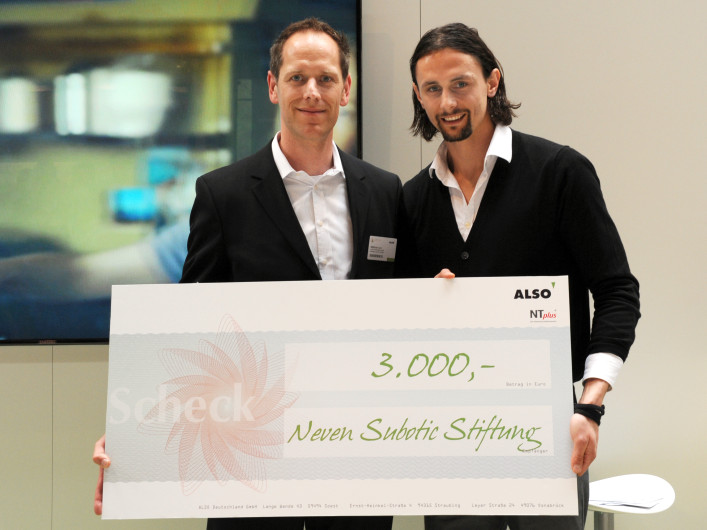 ALSO spendent 3000€ an die Neven Subotic Stiftung