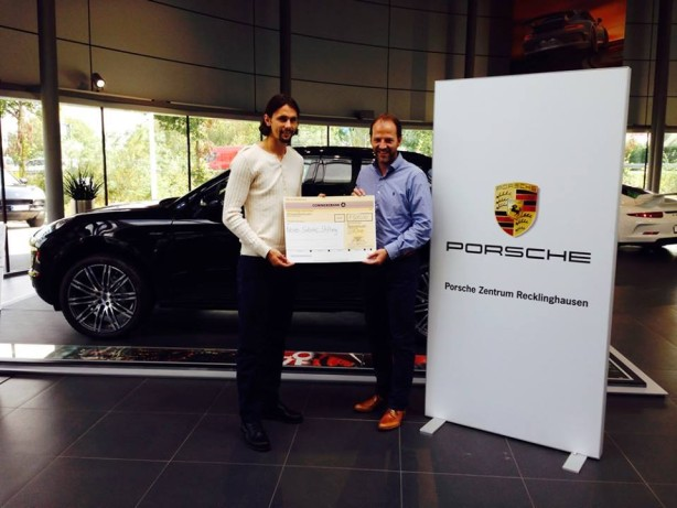 Ein großes Dankeschön an Frank Fiegenschuh und das Porschezentrum Recklinghausen für die 1500 Euro, die im Rahmen der Ice Bucket Challenge gespendet und gestern persönlich übergeben wurden.