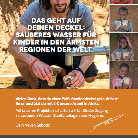 Sponsor-of-the-Day Evonik und die Neven Subotic Stiftung